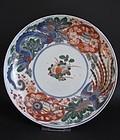 Ko Imari Dragon and Peonix Dish c.1710