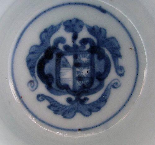 Rare Set of Five Ko Imari �Armorial� Sake Cups c.1750-80