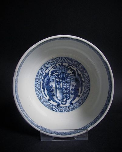 Ko Imari Karako and Armorial-mon Bowl Late Edo