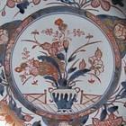 Large Export Imari Hanakago-de Dish Early 18th Century