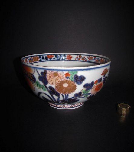 Fine Imari Chrysanthemum and Peony Bowl c.1710