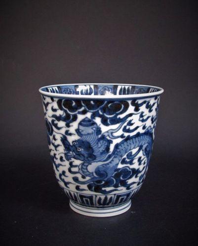 Ko Imari Ryu-mon Ming Style Beaker Early 18C No 1