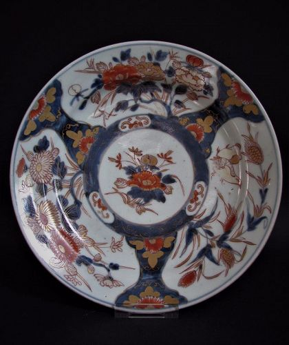 Imari Export Quail and Millet pattern Dish Early 18th Century No 1