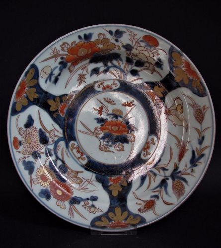 Imari Export Quail and Millet pattern Dish Early 18th Century No 3