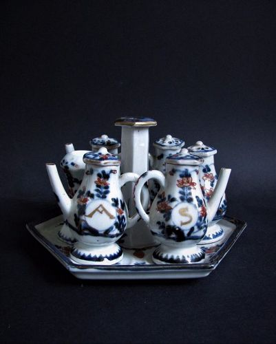 Rare Imari Export Miniature �Toy� Condiment Set c.1700