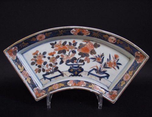Rare Large Imari Fan Shaped Dish  c.1700