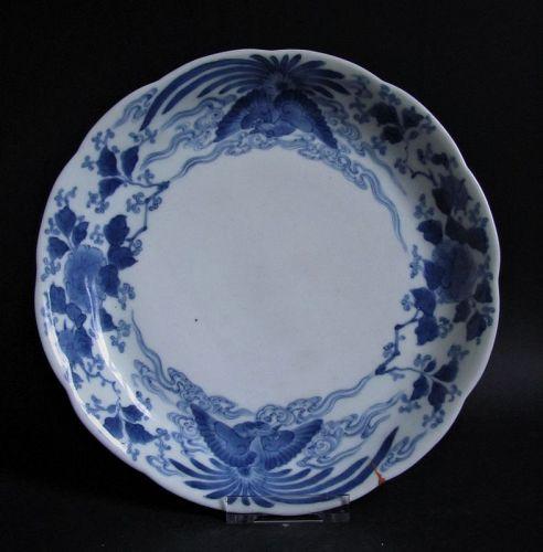 Fine Ai Kakiemon Botan ni Hooh Dish Empo c.1680