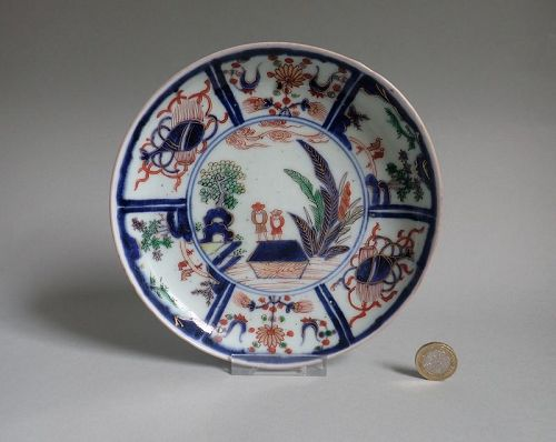 Rare Imari �Deshima� figures  Kraak Style Dishes c.1700 No 2