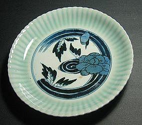 Arita Imari Celadon Dish - 18th Century