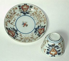 Ko Imari Tea Bowl and Saucer, c. 1700