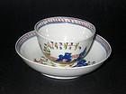 Keeling English Teabowl and Saucer - c. 1790