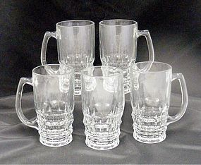 5 Ravenhead Vintage Beer or Beverage Glass Mugs