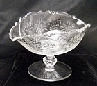 Heisey Orchid Nut Beaded Bowl Compote ~Very Elegant