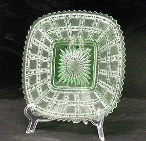 Imperial Beaded Block Emerald Green Square Plate