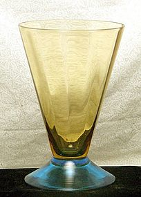 Morgantown Genova Two Tone Belton Glass Tumbler ~Rare