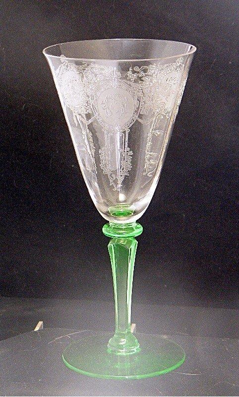 Morgantown Adonis Wine w Green Athena Stem  ~Rare