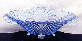 Cambridge Caprice Moonlight Blue Glass Oval Bowl