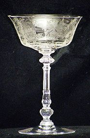Heisey Orchid Wine Glass on Tyrolean Stem