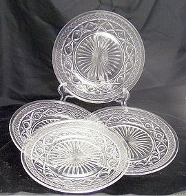 Imperial Cape Cod Luncheon or Salad Plates ~Set of 4
