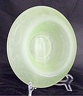 Tiffin? Satin Glass Rolled Rim Bowl w Fish & Waves