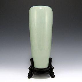 Seifu Yohei III Japanese Celadon Vase