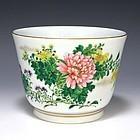 Kanzan Denshichi Meiji Japanese Kyoto Planter Bowl