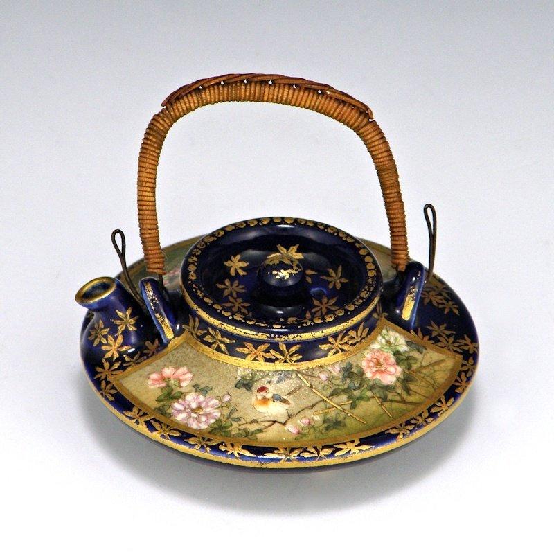 Kinkozan Sobei VII Satsuma Pottery Japanese Tea Pot