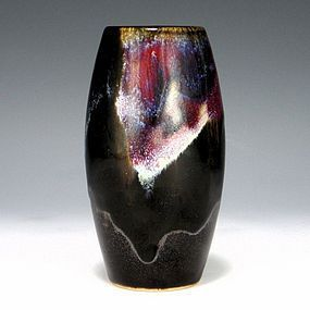 Inoue Ryosai Sumida Drip Glaze Japanese Vase