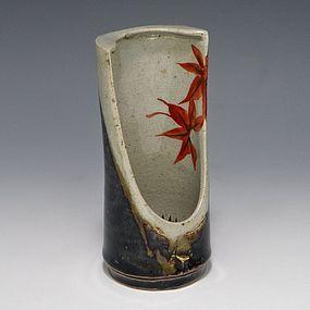 Seifu Yohei I Edo Kyoto Pottery Japanese Hanging Vase