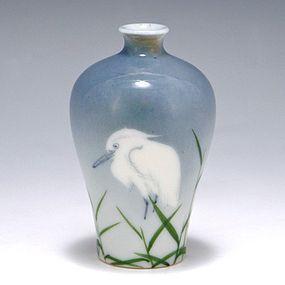 Nishiura Enji V Japanese Meiji Seto Egret Vase
