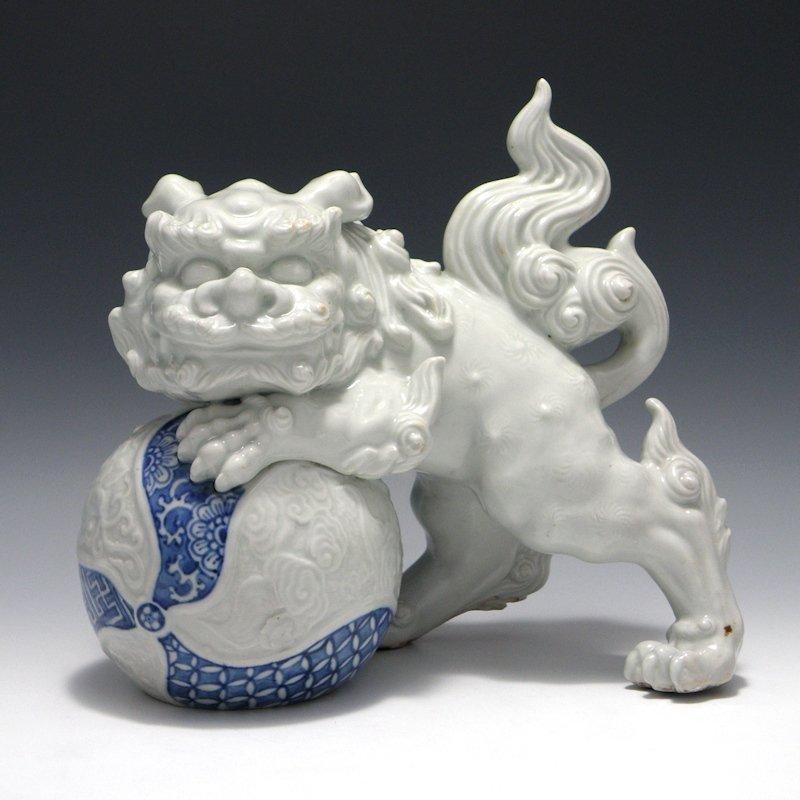 Japanese Karajishi Shishi Fu Lion Okimono