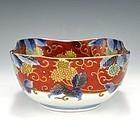 Seiji Kaisha Japanese Arita Imari Polychrome Bowl