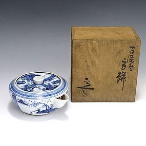 Kiyomizu Rokubei IV Japanese Sometsuke Teapot