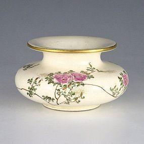 Kinkozan Sobei VII Japanese Satsuma Peony Vase