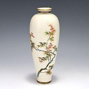 Ryozan Japanese Satsuma Maple Tree Vase