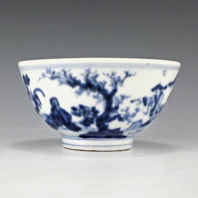 Seifu Yohei I Japanese Edo Era Blue & White Tea Bowl