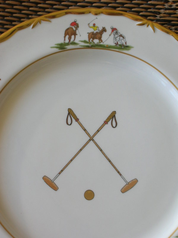 Boehm Porcelain Palm Beach Polo Club Charger Plates