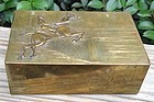 ENGLISH BRASS BOX EQUESTRIAN MOTIFS