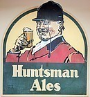 HUGE VINTAGE HUNTSMAN ALES PUB TRADE SIGN ADVERTISING