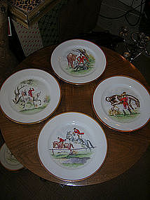 Hunt Scene Dinner Service-Handpainted Signed Bavarian