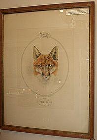 Vintage Marquerite Kirmse Fox Hunting Etching