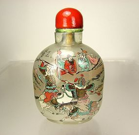 YONG SHOU TIAN, Superb Chinese Inside-Painted Glass Snuff Bottle, 1917
