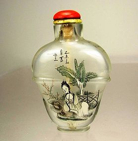LeSan, Superb Chinese Inside-Painted Glass Snuff Bottle, Circa 1890
