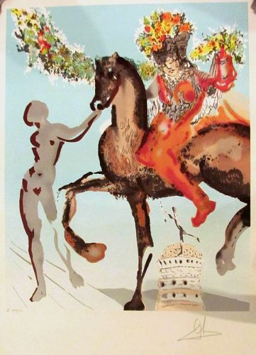 "SALVADOR DALI ""The Harbinger"" from The New Jerusalem"" Suite, Signed"