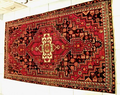 Antique Persian Bijar Heriz Serapi Hand Knotted Rug, Circa 1920 - II