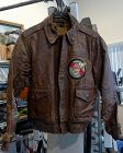 WWII Original US Army Air Corps Named A-2 Flight Leather Jacket