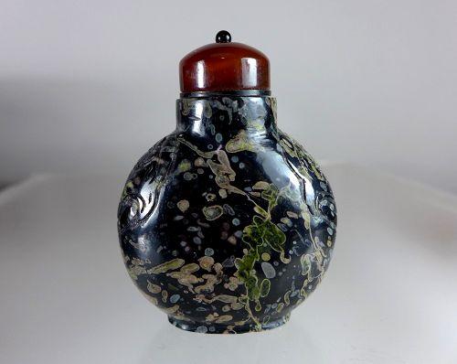 Antique Chinese Amygdaloidal Basalt Snuff Bottle