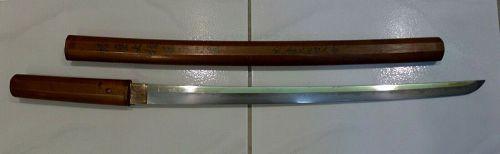 Shinto Japanese Samurai Sword (Wakizashi) with Sayagaki, Signed Tadaku