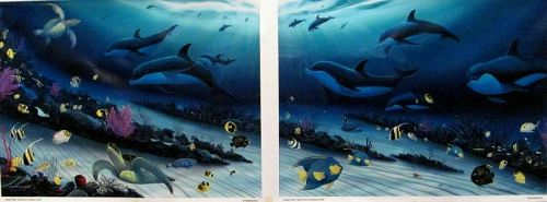 """Wyland, Radiant Reef"""", Limited Ed Giclee Diptych on Canvas (36"""" X 25"""""""