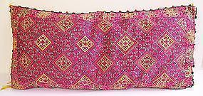 A finely embroidered pillow cover from Hazara, Pakistan